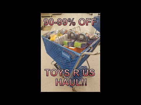 Live Toys R US Clearance Haul 90 To 99% Off | Cheap Toy Haul!