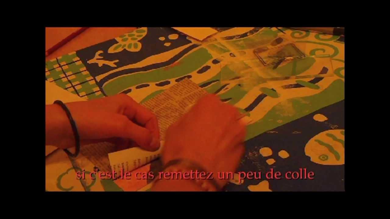 fabriquer une carte postale avec du papier journal youtube. Black Bedroom Furniture Sets. Home Design Ideas