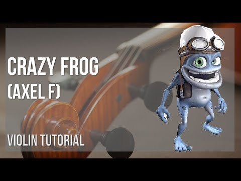 EASY Violin Sheet Music: How to play Crazy Frog (Axel F) by Harold Faltermeyer