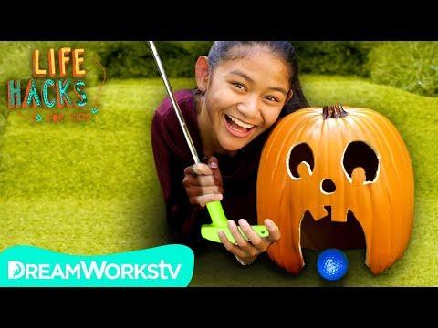 Pumpkin Putt Putt Game | LIFE HACKS FOR KIDS |