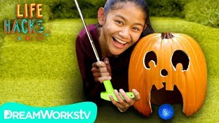 Pumpkin Putt Putt Game | LIFE HACKS FOR KIDS