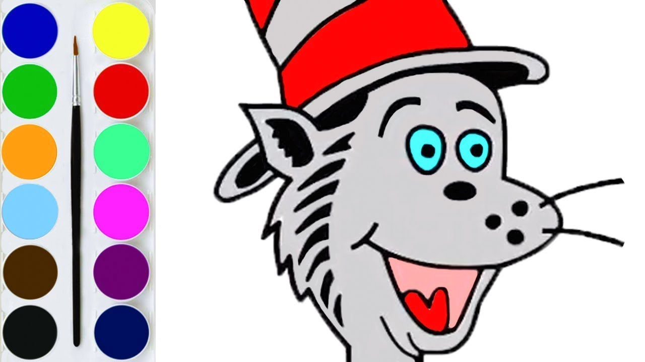 Cat In The Hat Coloring Pages - GetColoringPages.com | 720x1280