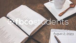 Sunday Bible Study   August 2