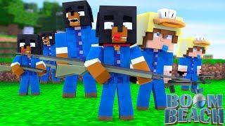 Minecraft BOOM BEACH - STORM THE BEACHES - DONUT IS CORNERED
