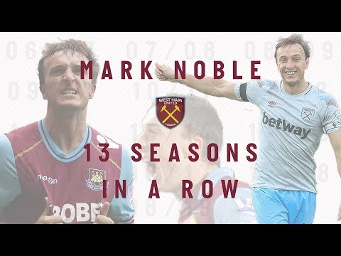 MARK NOBLE HAS NOW SCORED IN 13 CONSECUTIVE SEASONS FOR WEST HAM UNITED