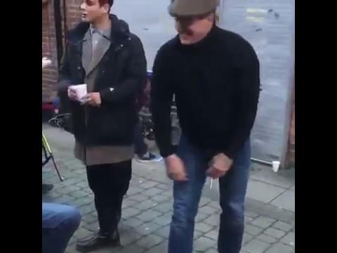 Luke Pasqualino And Tamer Hassan Dancing!!
