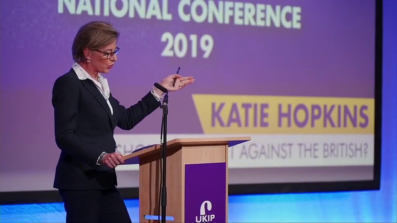 Katie Hopkins speech at UKIP conference 2019