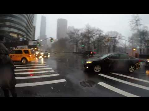 ⁴ᴷ Walking 2018 Nor'easter Bombogenesis Storm Riley in NYC from Times Square to Central Park