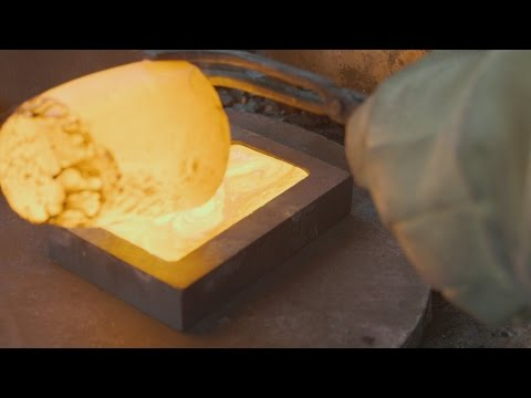 Watch These Gold Divers Turn Gold Flakes Into A 100K Gold Bar