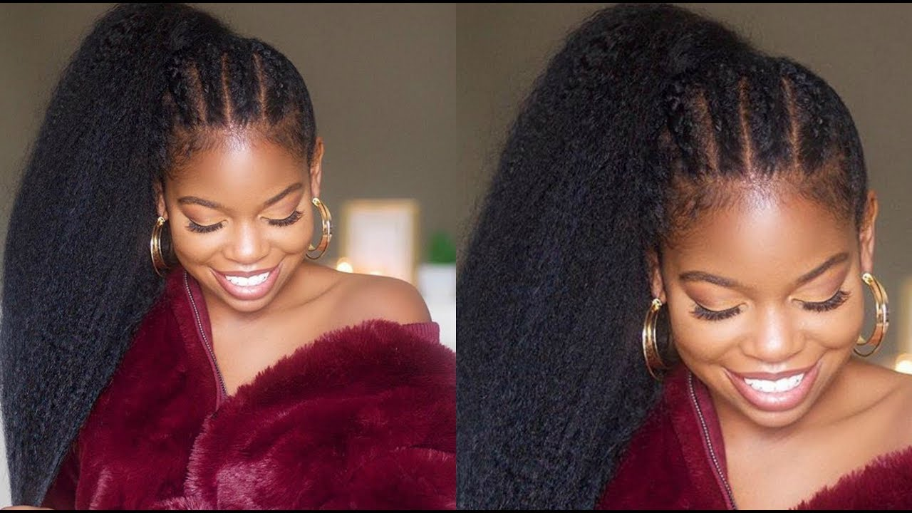 Braided Ponytail Protective Style On Natural Hair Ft Better Length