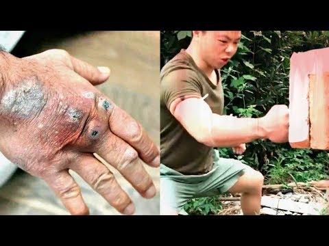 Китаец потомок Брюс Ли набил кулак! До мертвечины