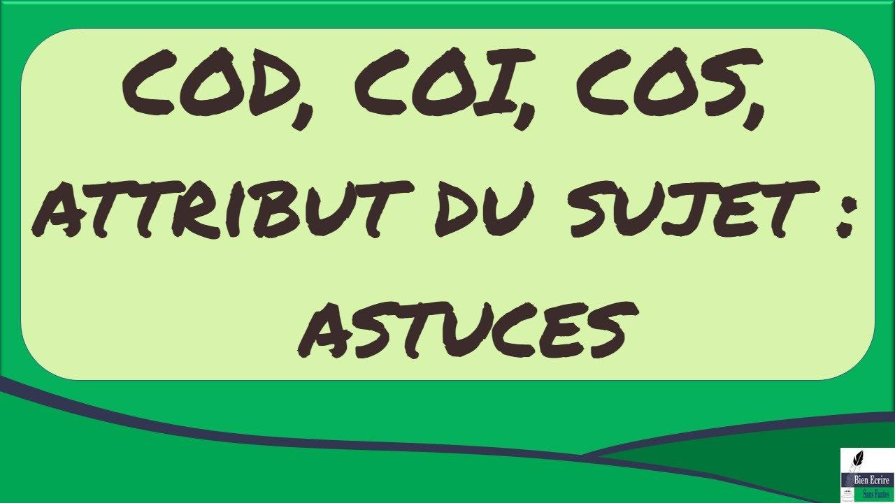Download COD, COI, COS, attribut du sujet: mes astuces pour les repérer