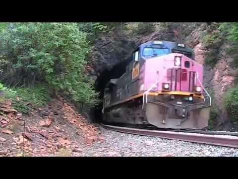 Union pacific pulls all steel coal train through Tunnel 6 on the Moffat Route.