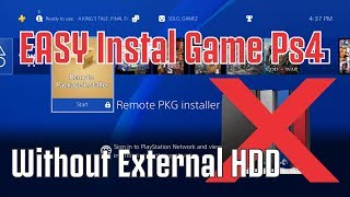 Instal game PS4 without external Harddrive (5.05)