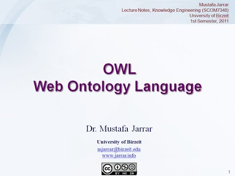 OWL- Web Ontology Language (Part 1/2)