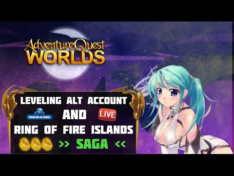 =AQW= RING OF FIRE ISLANDS + Leveling & Story on Alternate Account -  Ranking, PVP & Dailies (LIVE!)