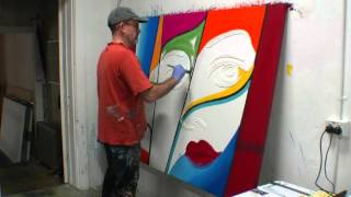 How to create a large abstract artwork demonstration tutorial