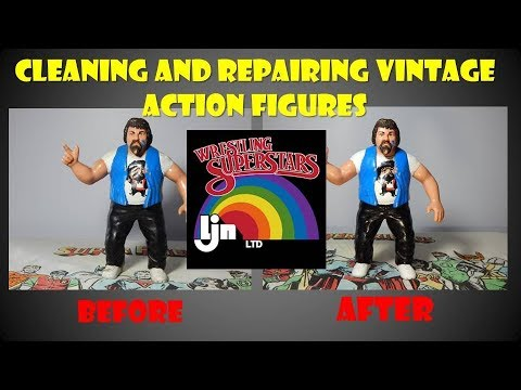 Cleaning Vintage LJN Wrestling Superstars Figures