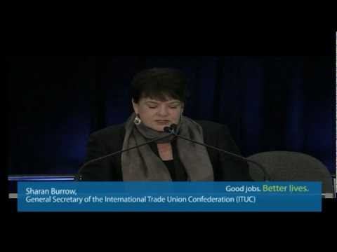 Struggles from around the world - ITUC Sharan Burrow