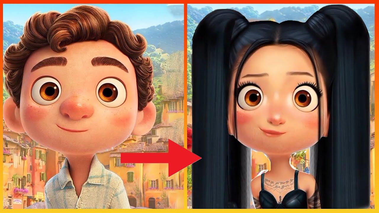 Download Luca Pixar Disney Glow Up Into Bella Poarch - Disney Transformation