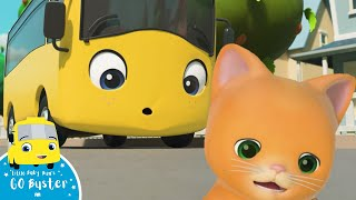 Wow! Buster and Ashley Rescue A Kitten | Go Buster! | Bus Cartoons for Kids! | Funny Videos & Songs