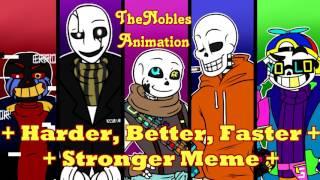    TheNobles Animation    Härter-Besser-Schneller-Stärker Meme    Undertale AU s