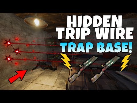 RUST |  FIRST AUTODOOR LOCKING LASER ELECTRIC TRAP BASE ! *NEW UPDATE*
