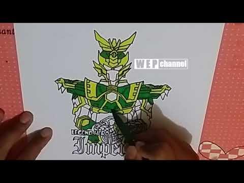 Menggambar Dan Mewarnai Legend Hero Imperial Dengan Spidol Snowman