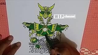 Menggambar dan Mewarnai Legend Hero Imperial dengan Spidol SNOWMAN dan BOARDMAKER