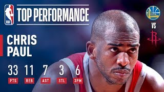 Chris Paul Puts Up 33 pts, 11 rebs, & 7 asts vs The Warriors