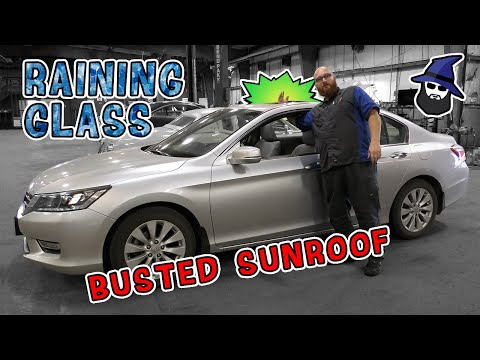 Shattered Sunroof! CAR WIZARD shows how to replace sunroof on 13 Honda Accord