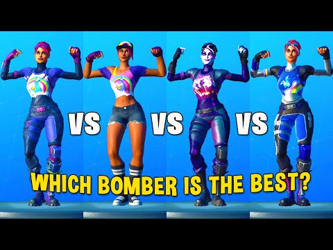 BRITE BOMBER Vs BEACH BOMBER Vs DARK BOMBER Vs BRILLIANT BOMBER - Fortnite Dance Battle
