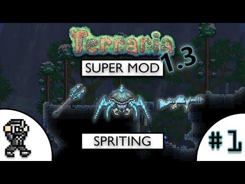 Terraria 1.3 SuperMod Item Spriting - Pixel Art - Thorium Mod - #1 (Ice Miniboss Items)
