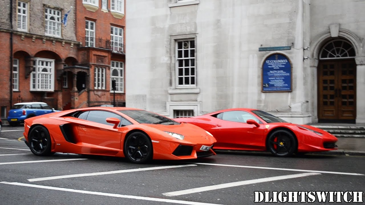 Exotic Luxury Cars In London June 2013 Noble Aventador 458s