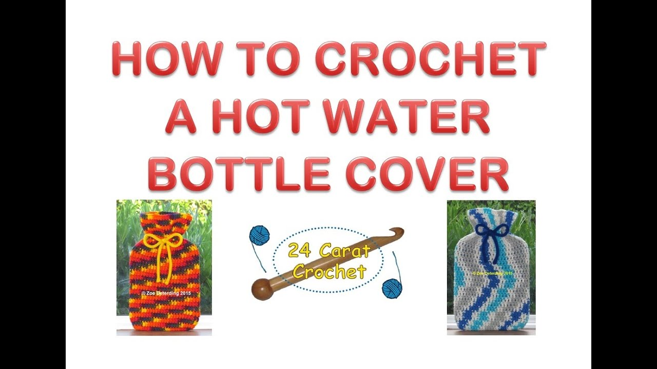 How To Make A Cover For A Hot Water Bottle - YouTube