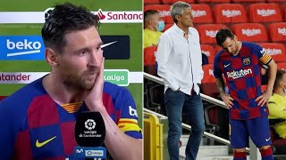 Lionel messi spoke to the media in an interview immediately after barcelona's loss osasuna, which saw real madrid confirmed as la liga champions. and a...