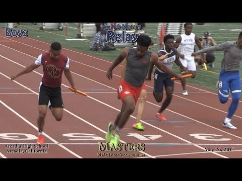 2017 TF - CIF-ss Masters - 4x100 Relay (Boys) (04)