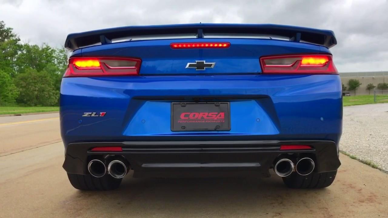 6Th Gen Camaro >> 17+ CORSA Camaro ZL1 Axle-Back Xtreme - YouTube