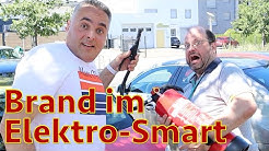 Elektro-Smart verschmort - Daimler sagt: Alles in Ordnung!