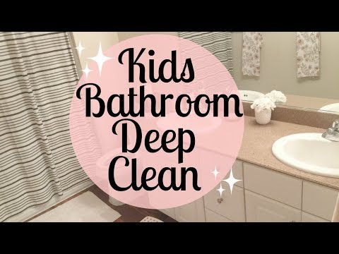 KIDS BATHROOM DEEP CLEANING ROUTINE | Cleaning Motivation | Tara Henderson