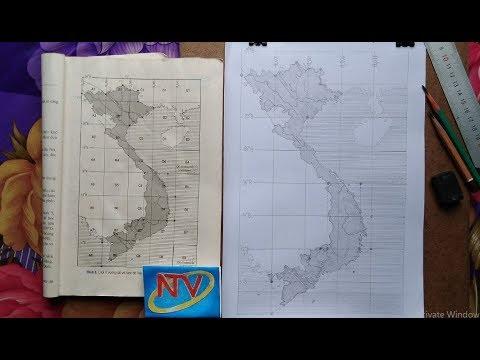 Vẽ Tay Bản Đồ Việt Nam nhanh và đẹp  Địa Lý 12| Vietnam map