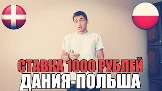 ТОП СТАВКА!!! ПРОГНОЗ   ДАНИЯ-ПОЛЬША   СТАВКА 1000 РУБЛЕЙ   ОТБОР ЧМ 2018  