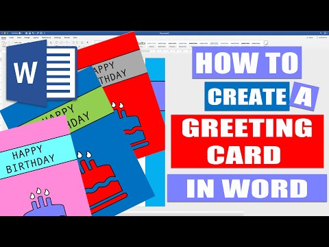 How To Create A GREETING CARD In WORD | Tutorials For Microsoft Word