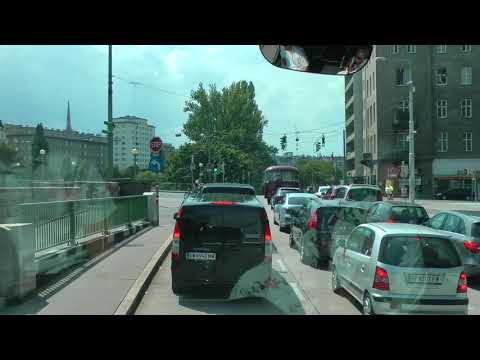 riding in Vienna from the Danube to Schönbrunn Palace in a narrated Viking tour bus (1 of 2)