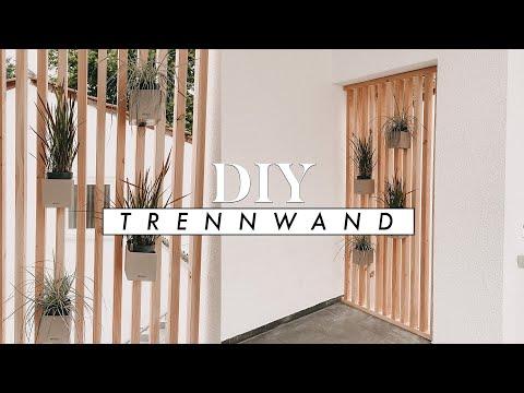 DIY Trennwand aus Holz - Raumteiler, Sichtschutz für Haus und Garten selber bauen | EASY ALEX