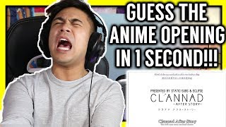 GUESS THE ANIME OPENING IN 1 SECOND CHALLENGE - WHAT ARE THESE SONGS!?! | Anime Challenge