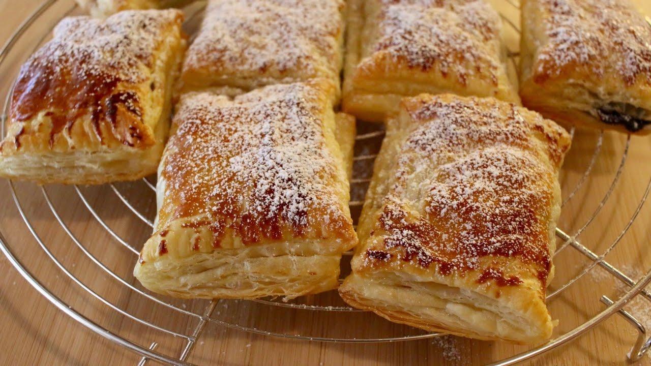 Fagottini di sfoglia alla banana e crema di nocciole for Ricette facili dolci