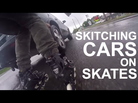 Skating to work, skitching home