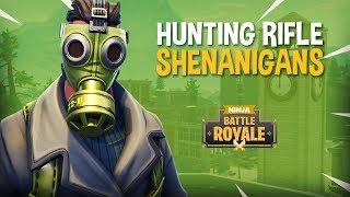 Hunting Rifle Shenanigans!! - Fortnite Battle Royale Gameplay - Ninja