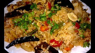 Vegetable Biryani in Pressure Cooker (వెజిటబుల్ బిర్యాని  చేయడం ఎలా?)